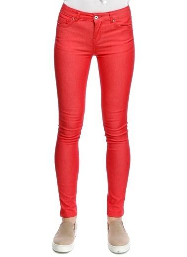 T-Box Skinny Pantolon Kırmızı